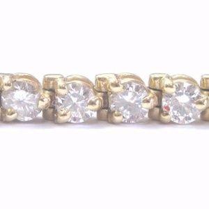 Jewelry - Fine Round Cut Diamond Yellow Gold 3-Prong 44 Ston